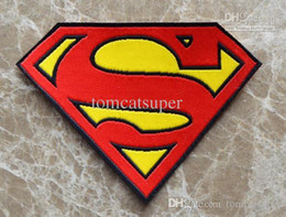 Free Shipping ~ cloth Heat Transfer Superman Super man Embroidered Brands logo DIY Iron-on Sew On Patch Applique Badge