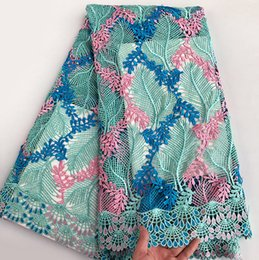 New Arrival very soft African Cord Lace Guipure Lace Fabric high quality 5 yards per piece