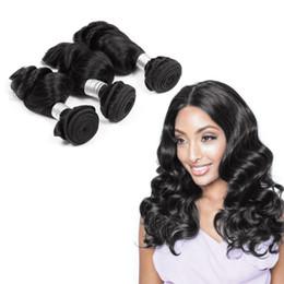 Top Selling Peruvian Loose Wave 100% Human Hair Weave 3 Bundles 8-30inch Black Human Hair Weave Bundles Natural Color 1b