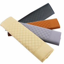 Classic PU Leather Car Seat Belt Pad Man Cool Lady Brown Grey Beige Black