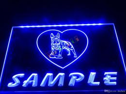 DZ078-b Name Personalized Custom French Bulldog Dog House Home Neon Sign.JPG