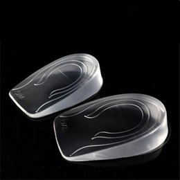 transparent foot pad silicone heel elastic care half insole cushion insole height increase of 0.8   2 3 cm