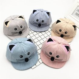 2018 Spring And Summer Children Hats Men And Women Baby Peaked Cap Kitty Ears Hoop Baby Outdoors Sun Hat