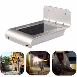 Solar body sensor lights 16LED courtyard wall outdoor garden landscape energy saving street lamp