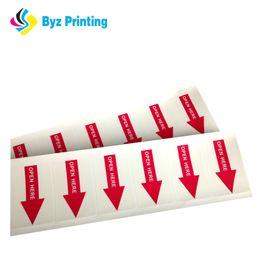 Custom high quality Waterproof Self Adhesive Arrow Sticker with various shape