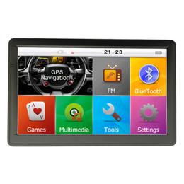 HD 7 inch Car GPS Navigator Bluetooth Truck Navigation 800*480 MP4 FM Transmitter AVIN 800MHZ 8GB 256MB Free 3D Maps Update