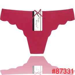 Cool Ice Seamless Material G-String Colorful Sexy Lingerie New Desgin Stock Thongs For Women