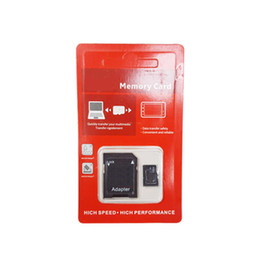 100% Real Genuine Full Capacity 2GB 4GB 8GB 16GB 32GB 64GB Class 10 TF Flash Memory SD Card with SD Adapter in Red Generic Retail Package