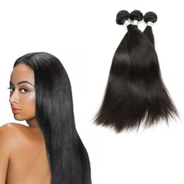 Excellent Quality Brazilian Hair Weave Unprocessed Thick 2018 Top Sale Straight Human Hair Weave For Black Women HumanWigs Can Be Dyed