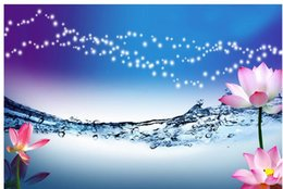 Custom Photo Wallpaper 3D Stereo Original water wave lotus TV background wall painting Personality Wall Mural Wallpaper Painting