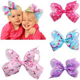 JOJO SIWA 12cm 5 inch unicorn HAIR BOW wich clip baby girl Children Hair Accessories fashion hair clip wholesale