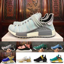 e229ff23845a2 2018 Pharrell Williams HU NMD Sneakers Trail Human Race Mens Women Running  Trainers Shoes