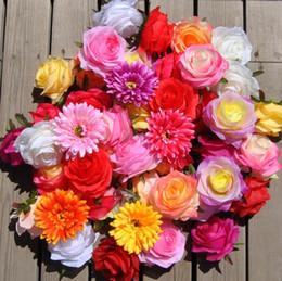 30pcs 8cm Artificial Half Open Shape Rose Flower Silk Camellia Flower Heads 11 Colors Available U Choose Color