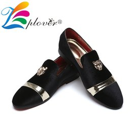 ebd8dcd080da Luxury Brand Men Loafers Casual Shoes Men Velvet Tiger Metal Gold Dress Wedding  Party Shoes Italian Red Bottom Loafers Flats
