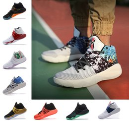 2018 new Kyrie Irving 2 Shoes Fifty-Two Year Mens Basketball Shoes Kyrie 2 II BHM Effect Kyrie-oke USA Men Shoes Sports Sneakers