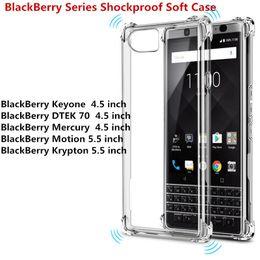 For BlackBerry KEY 2 Athena Motion Krypton Keyone Mercury Transparent Anti-knock Clear Shockproof Soft TPU Case