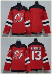 New Jersey Devils 13 Nico Hischier Jerseys Blank Red All Stiched Hockey Jersey Men Women Youth Kids Boy Girls