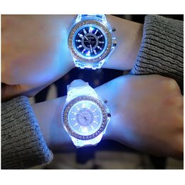 2018 New Fashion LED Luminous Lights Electronic Quartz Watch Women Casual watch girls watches Wrist watch