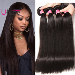 UNice Hair 8a Virgin Malaysian Straight Human Hair 5 Bundles 100% Human Hair Extensions Remy Human Weave 8-30 inch Wholesale Cheap Bulk