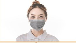 Wholesale 50pcs lot Disposable Activated Charcoal Mask Nonwovens Four Layer Activated Carbon Mask PM2.5 Free Shipping
