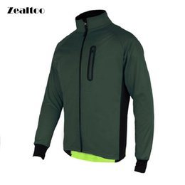 Zealtoo Mens Ropa Ciclismo Cycling Jackets Windproof Waterproof Coat Keep Warm Green blue Spring Autumn Winter Cycling Clothing