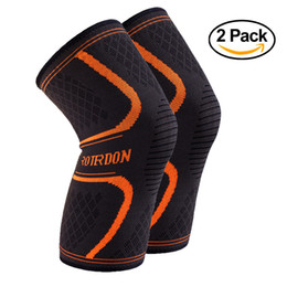 ROTERDON Sports Knee Brace Support Sleeves, Compression Knee Sleeve For Fitness Pain Relief Arthritis Running Jogging Football Basketball