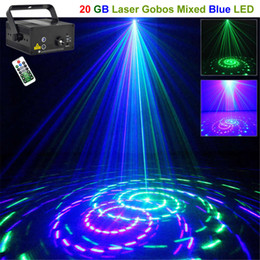 AUCD Mini 20 Big GB Green Blue Laser Projector Lights 3W Blue LED Mix Effect DJ Party Garden Show Holiday Stage Lighting L20GB