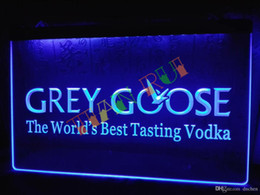 LE216-b Grey Goose Vodka Neon Light Sign home decor shop crafts led sign