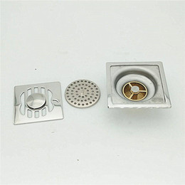 Tile Insert round Floor Drain Waste Grates Bathroom invisible sliver Shower Drain 100 x 100MM 304 Stainless steel