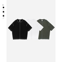2018 spring and summer the New Nordic minimalist men wear is tailored to oversize pure color men T-shirt
