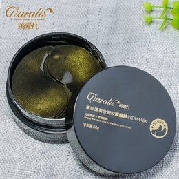 Hot Sale! Daralis Eye Patches Dark Circle Remove Black Pearl Golden Collagen Eye Mask +Red Ginseng Extract Crystal Eye Mask