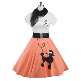 New Women Dress Pin UP Vestidos Summer Printing Puppy Retro Casual Party Robe Rockabilly 50s 60s Vintage Dresses with Belt Scarves DK9006SY