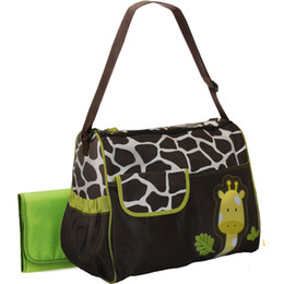 Wholesale fashionable giraffe diaper bags for baby