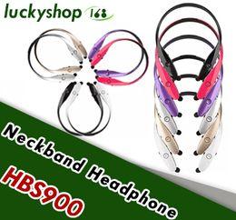 HBS 900 Wireless Bluetooth Headsets CSR 4.0 8635 Chip HBS900 Earphone headphones Sports neckband for iphone Samsung Universal HBS900 100X