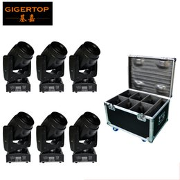 Freeshipping Mini Size 60W Led Moving Head Spot Light Packed by 6IN1 Flight Case Cheap Price 7 colors+white 5 gobos+open Shaking 110V-220V
