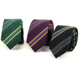 men's necktie 6cm cotton strips ties jacquard skinny neck tie for men leisure business neckwear
