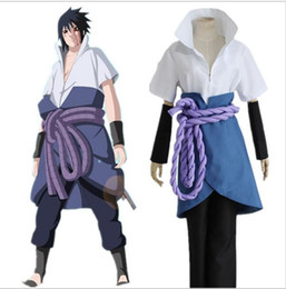 Japanese Anime Naruto Shippuden Clothing Uchiha Sasuke Cosplay Costumes 4th Generation Clothes