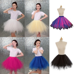 New Arrival Cheap Mini Sexy Tutu Skirts Black Tulle Skirts Womens Petticoat Rockabilly 5 Layers Puffy Summer Skirt CPA782