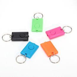 Hot Selling Portable Custom Made Mini Plastic UV Led Torch Keychain Light Keyring Flashlight With Logo