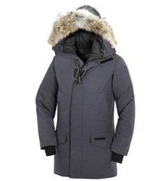 New Brand MANASEAMON Top Quality Men Winter Coat Langford Parka Goose Down Feather Jacket Overcoat Big Coyote Fur Collar