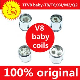 300% Authentic TFV8 BABY Beast Tank Coil Head TFV8 Baby-T8 M2 T6 X4 Q2 ohm Core Replacement Coils Genuine