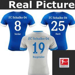 Top best quality Schalke 04 jersey RAUL 7 huntelaar 25 BURGSTALLER MASCARELL HARIT COKE SERDAR FC Schalke 04 football shirts