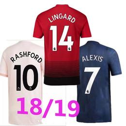 7f1da0f2606 New 2019 black ALEXIS 7 LUKAKU 9 soccer jerseys 2018 2019 maN POGBA 6  RASHFORD UtD football shirt third MAILLOT DE FOOT THAILAND quality