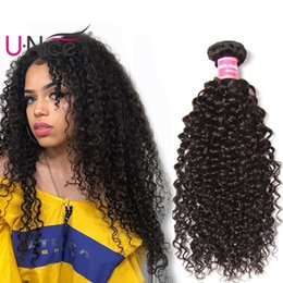 UNice Hair Brazilian Virgin Human Hair Bundles 100% Human Hair Extensions Kinky Curly Weave Bundles Wholesale Cheap Bulk 8-26 inch