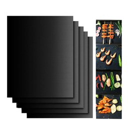 BBQ grill mat 33x40cm barbecue grill pad reusable easy to clean portable non-stock make grilling easy oven hotplate retail box