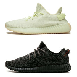 2018 Wholesale Cheap Boost 350 V2 V1 Butter Sesame Pirate Black Moonrock Running Shoes Sneakers with Box Men Women Trainers Boots