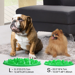 Green Interactive Slow Feeder For Dogs Dog Food Bowl No Gulp Slow Feeder Wholesale Free Shipping