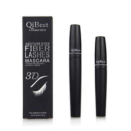 Hot 3D Fiber Lashes Mascara Qibest SKF Q8 Makeup Eyelash Mascara Black Water Proof Double Mascara High Quality 2PCS=1SET