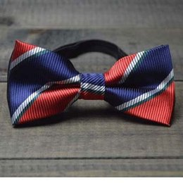 luxury children bowknot cartoon bow tie 10*5cm adjustable button blue yellow red 2pcs lot