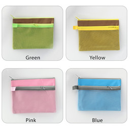 Zipper Bag A5 Double Layers Zipper Pouch Clear Storage Bags Office Document Bags Document File Pocket, Colour Random